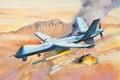 Картинка art, painting, drone, avaition, MQ-9 Reaper Predator
