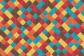 Картинка линии, желтый, красный, голубой, текстура, геометрия, коричневый