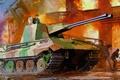 Картинка прототип немецкой зенитной самоходной установки, арт, рисунок, Coelianm, Flakpanzer V, 7 cm FlaK 43 L/89, ...