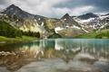 Картинка водоём, великолепно, леса, горы