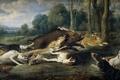 Картинка собаки, охота, кабан, живопись, Арт, золотой век