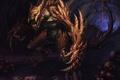 Картинка пещера, черепа, монстр, арт