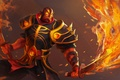 Картинка оружие, арт, воин, мечи, Xin, Ember Spirit, Dota 2, огонь