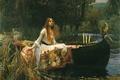 Картинка Джон Уильям Уотерхаус, картина, Леди из Шалотт, The Lady of Shalott, 1888, прерафаэлист, John William ...