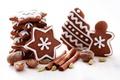 Картинка сладости, Новый Год, выпечка, печенье, мускатный, New Year, Christmas, пряности, корица, праздники, орешки, звездочки, фигурки, ...