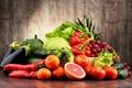 Картинка виноград, баклажан, перец, ананас, овощи, помидоры, капуста, grapes, mandarin, мандарины, pepper, vegetables, cabbage, tomato, грепфрут