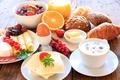 Картинка яйцо, смородина, апельсин, колбаса, сыр, coffee, cheese, Strawberry, кофе, buns, Grapes, baking, клубника, виноград, завтрак, ...