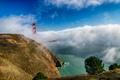Картинка мост, Сан-Франциско, туман, золотые ворота, Калифорния, облака