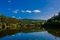 Картинка лес, озеро, Albstausee, Alb Basin, Хойзерн, Häusern, озеро Альбштау, Германия, Баден-Вюртемберг, Germany, отражение, Baden-Württemberg