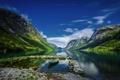 Картинка Landscape, water, Norway, Fjord, Kjøsnesfjorden, Jakub Malicki