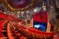 Картинка свет, красное, сцена, стулья, красота, Чикаго, рисунки, Театр