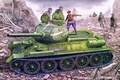 Картинка russian tank, tank, ww2, painting, T-34/85, war, art