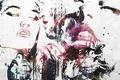 Картинка love., artwork, Alex Cherry, лица, девушка, губы, страсть, силуэты