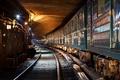 Картинка свет, метро, поезд, туннель