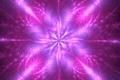 Картинка лучи, фрактал, фон, абстракция, цветок, свечение, лиловый, звезда