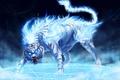 Картинка Тигр, огонь, синий