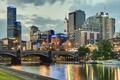 Картинка Yarra River, мост, река Ярра, Princes Bridge, Melbourne, Австралия, здания, набережная, Мельбурн, Australia