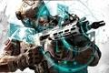 Картинка оружие, Ghost Recon, город, интерфейс, солдат, Future Soldier, прицел, автомат
