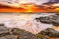 Картинка sunrise, beach, песок, море, sunset, океан, солнце, sky, scenery, природа, sun, рассвет, пляж, sea, закат, ...