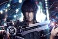 Картинка Noctis Lucis Caelum, меч, Final Fantasy XV, парень, noctis, лицо, art