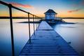 Картинка Norway, Норвегия, банька, мостик, Fornebu, озеро