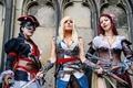 Картинка Assassin's Creed, cosplay, antique firearms, swords. pose, Jessica nigri, dress