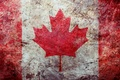 Картинка флаг, wallpapers, поверхность, обои, потертость, canadian, grunge, канада, текстура, texture, flag