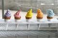 Картинка рожок, мороженое, сладкое, десерт, вафля