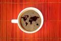 Картинка World, древесина, кофе, coffee, Мир, wood, map, карта