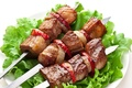 Картинка meat, мясо, шашлык, овощи