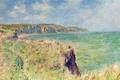 Картинка Клод Моне, картина, Край Скалы в Пурвиле, пейзаж