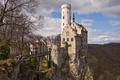 Картинка Lichtenstein, Schloss, горы, фото, Германия, замок