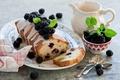 Картинка листья, ягоды, посуда, листочки, десерт, выпечка, ежевика, сладкое, глазурь, кекс, ложки, Anna Verdina