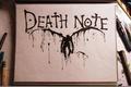 Картинка Death-Note, макро, тетрадь смерти, клякса, рюк