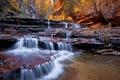 Картинка осень, пейзаж, природа, река, скалы, водопад
