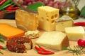 Картинка сыр, разный, куски