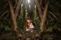 Картинка девочка, Woodland Fairy, лес, рыжеволосая