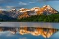 Картинка озеро, отражение, горы, природа, пейзаж, лес