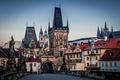 Картинка Praha, Готика, Прага, Чехия, Башни, Karluv Most, Карлов Мост, Prague, Архитектура