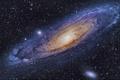 Картинка Андромеды, Галактика, космос, звезды