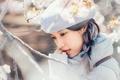 Картинка девочка, ветки, настроение, азиатка