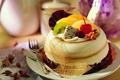 Картинка Еда, вишня, киви, пирожное