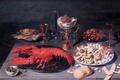 Картинка картина, Bruxelles, Nature morte au homard, Osias Beert, Still Life with Lobster, 1624