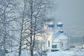 Картинка снег, Церковь, зима