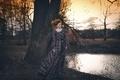 Картинка платье, парк, девушка, осень, Светлана Корулёва