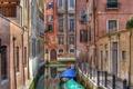Картинка Венеция, вода, лодки, дома