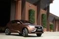 Картинка Concept, Lada, гараж, кусты, кроссовер, коричневый, Лада, концепт, передок, X-Ray