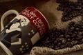 Картинка чашка, еда, кофе, кофейные зерна