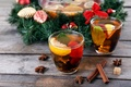 Картинка tea, lemon, корица, Cinnamon, Новый год, Christmas, New Year, украшения, чай, лимон