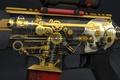 Картинка workshop, винтовка, золото, шестерёнки, железяки, пружина, механика, конструкция, антиквариат, череп, шестерни, статуя, оружие, sg553, поршни, ...